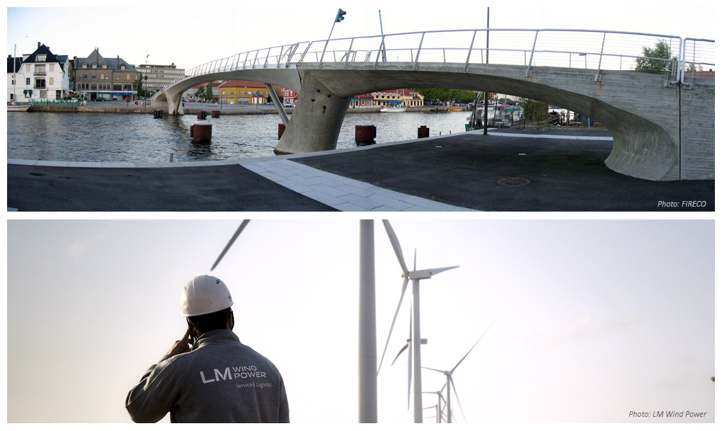 DACOMAT project: bridges and wind turbines